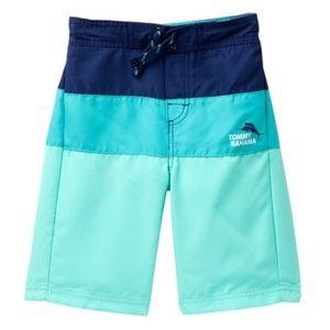 Tommy Bahama Swim Trunks Aqua Blue Striped NEW XL